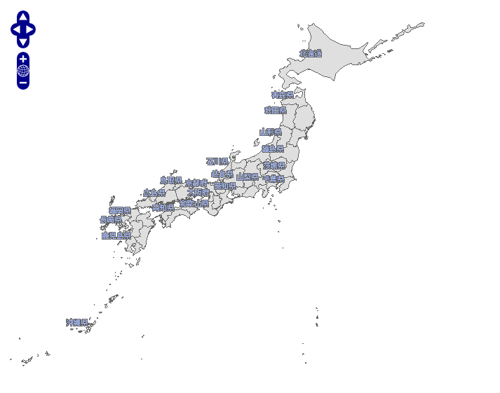 Initial WMS map with japanese dataset